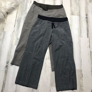 Athleta Workout Pants Gray Brown Size 6